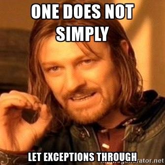 Exceptions meme