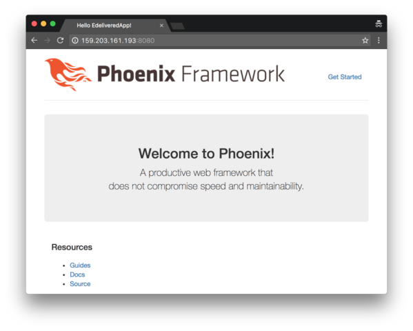 Deployed Phoenix App