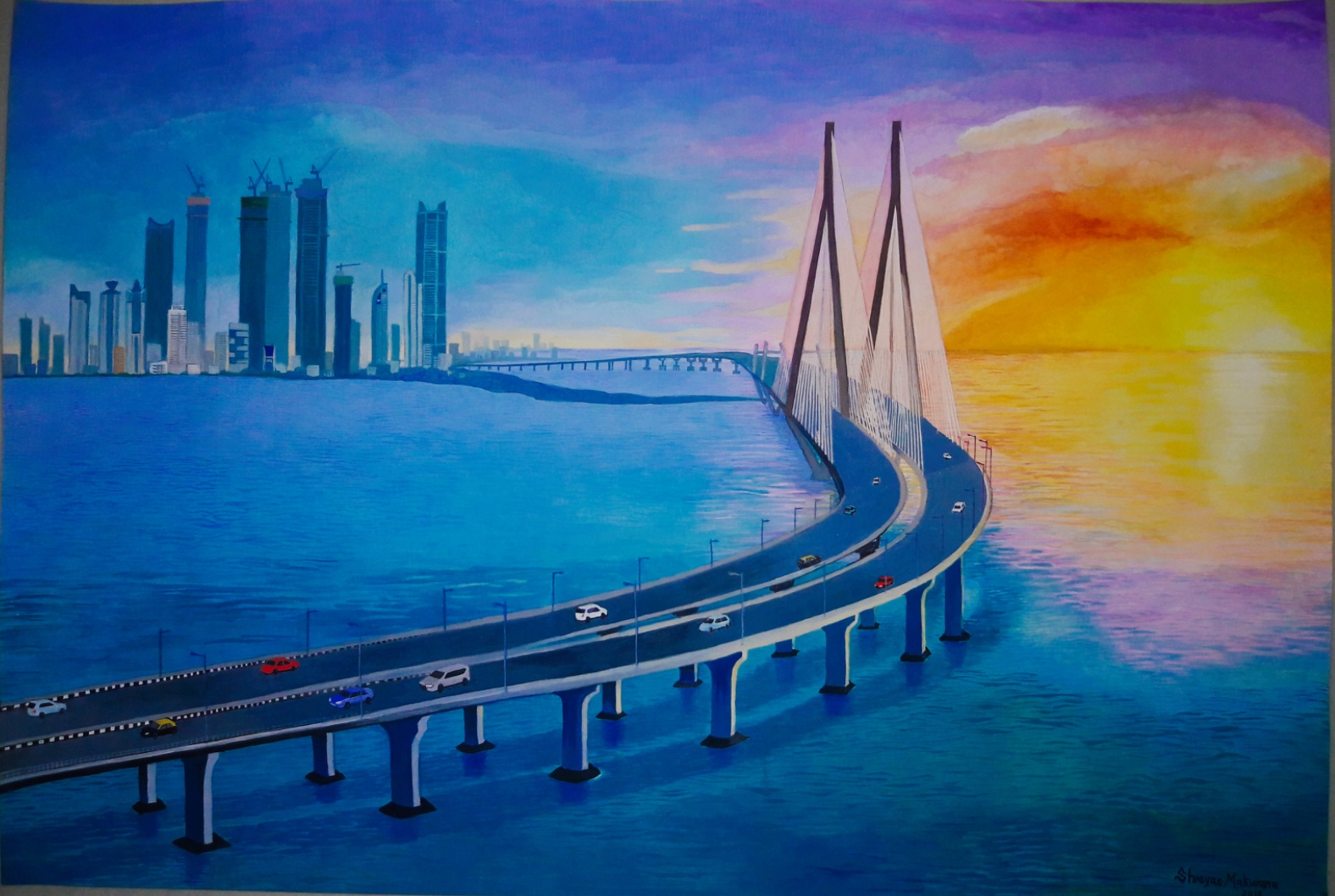 Mumbai Sea Link -paintings