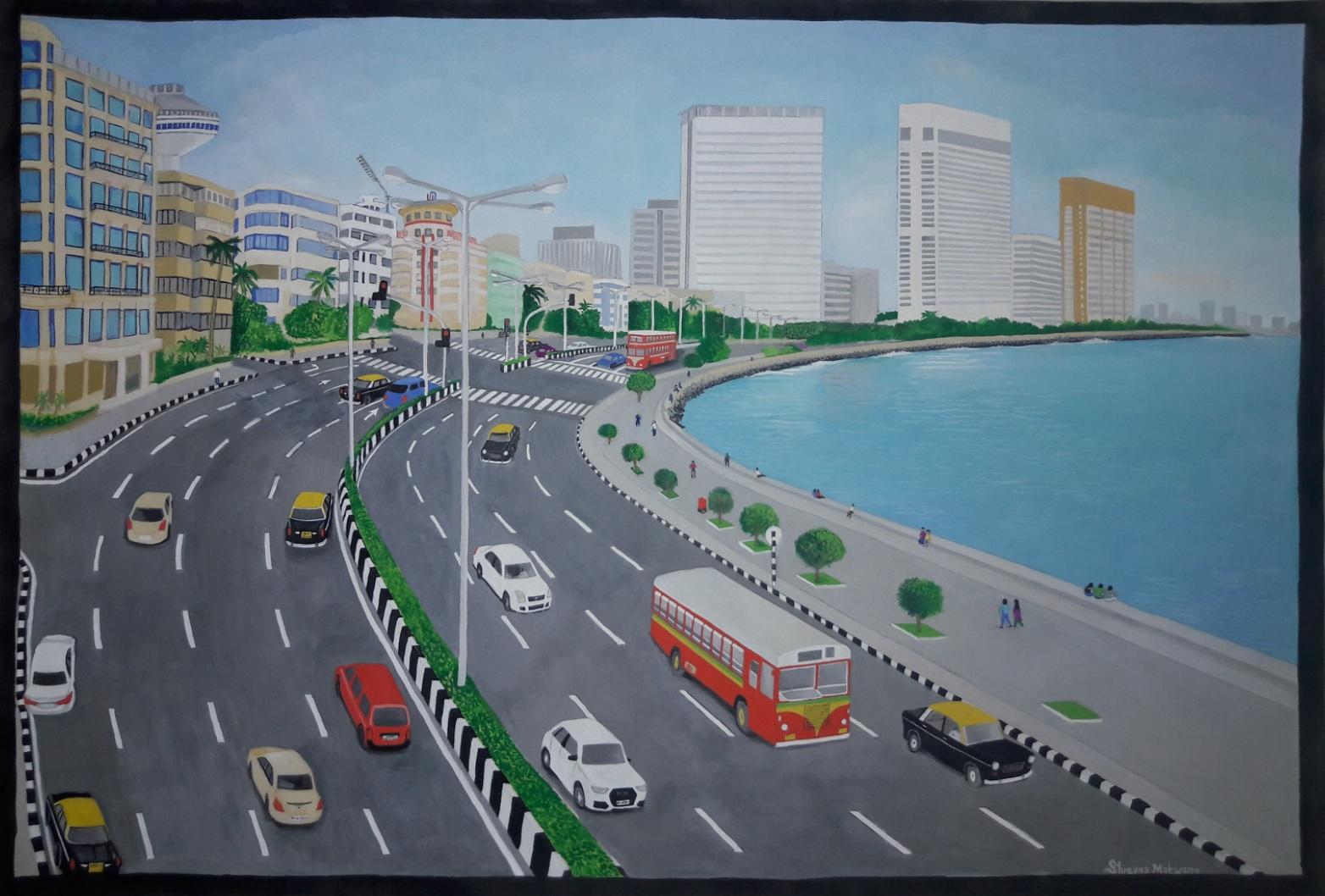 Mumbai Marine Drive-paintings