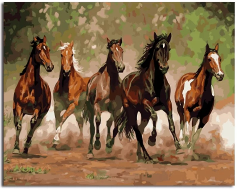 5 Horse Painting-paintings
