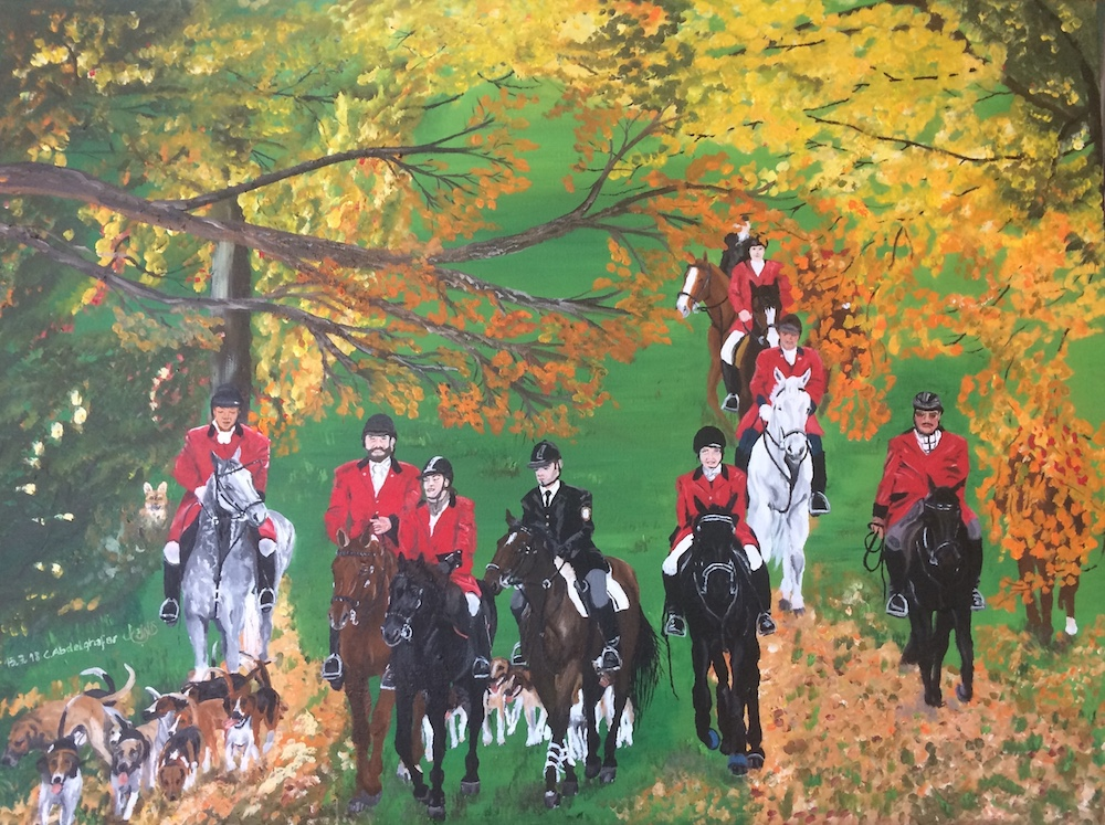 Hunting Scene-paintings