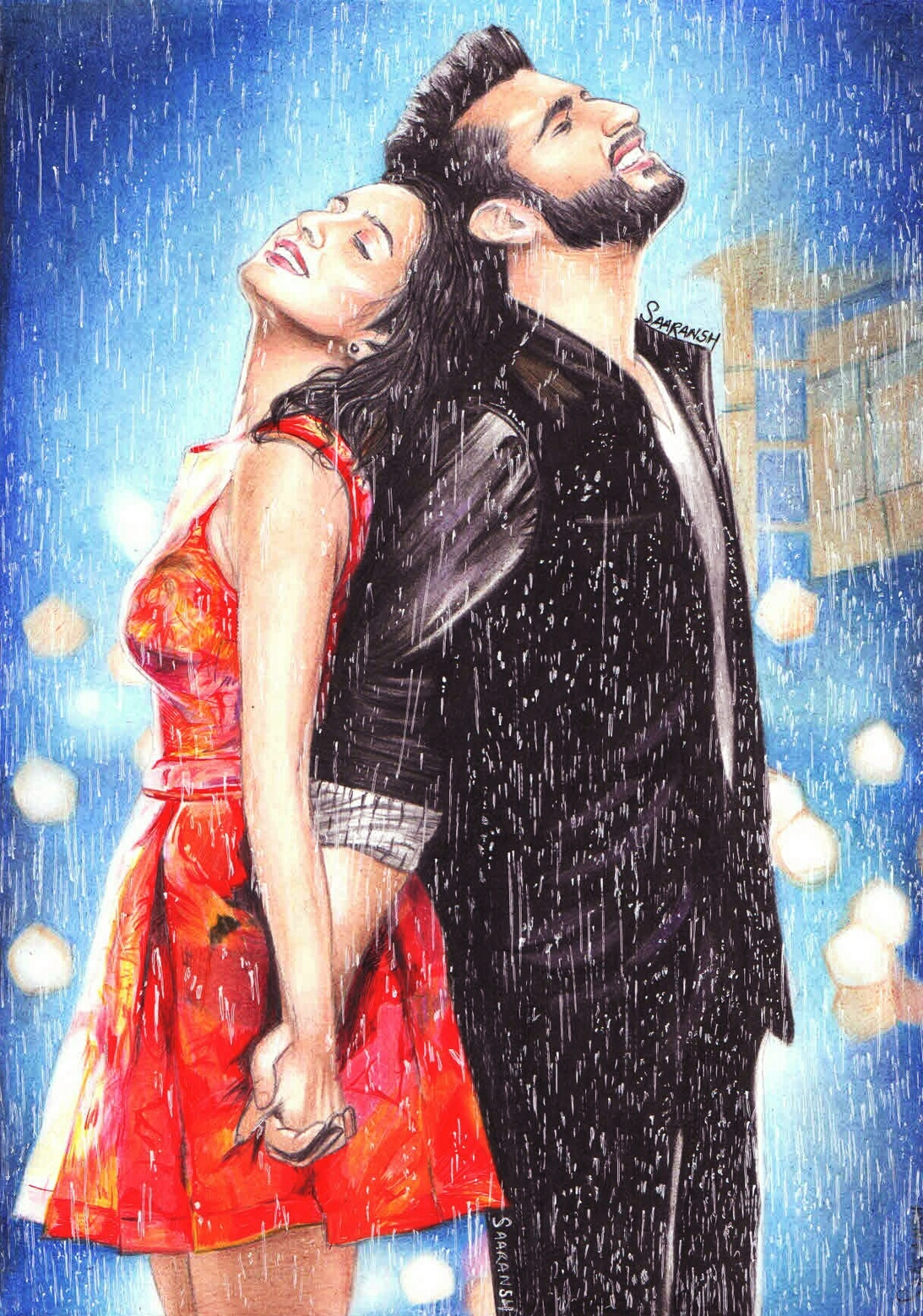 Half Girlfriend Hand Made Sketch-drawing