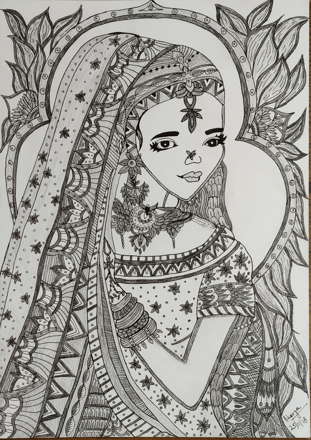 Indian Bride -drawing