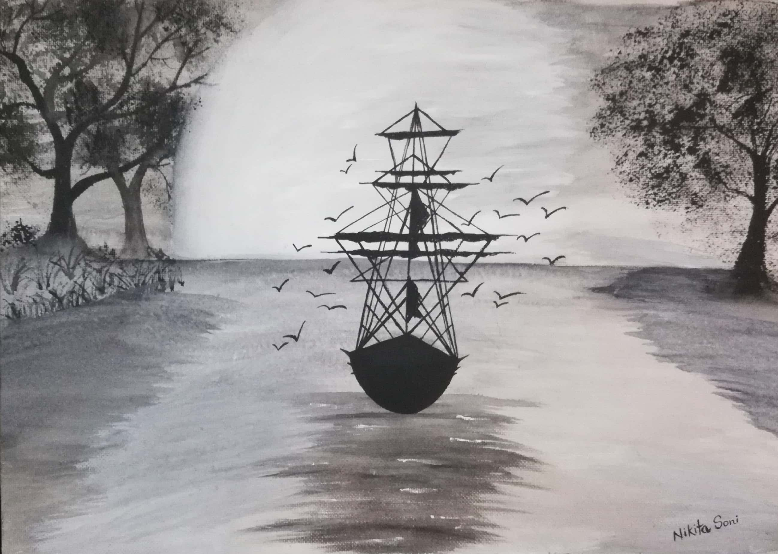 Journey Of The Ship-paintings