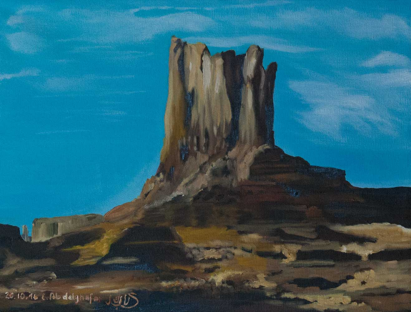 Rock Of The Monument Valley-paintings by Claudia Luethi Alias Abdelghafar