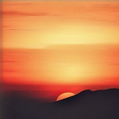 The Sunset -illustration