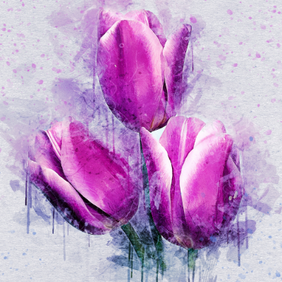 Digital Tulip-illustration