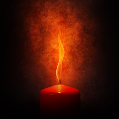 Burning Candle-3d art and painting