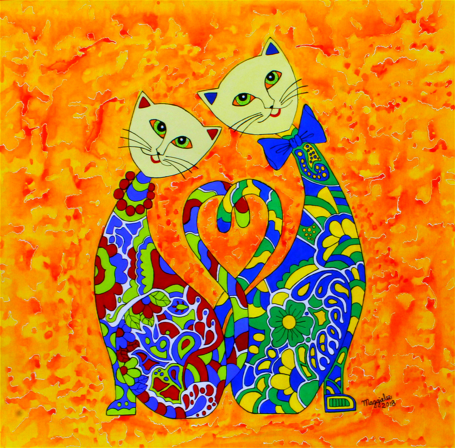 Lovely Cats-paintings