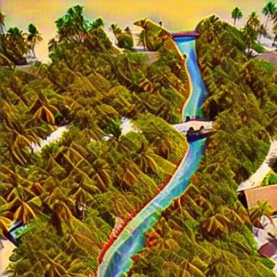 River Digital Painting-illustration