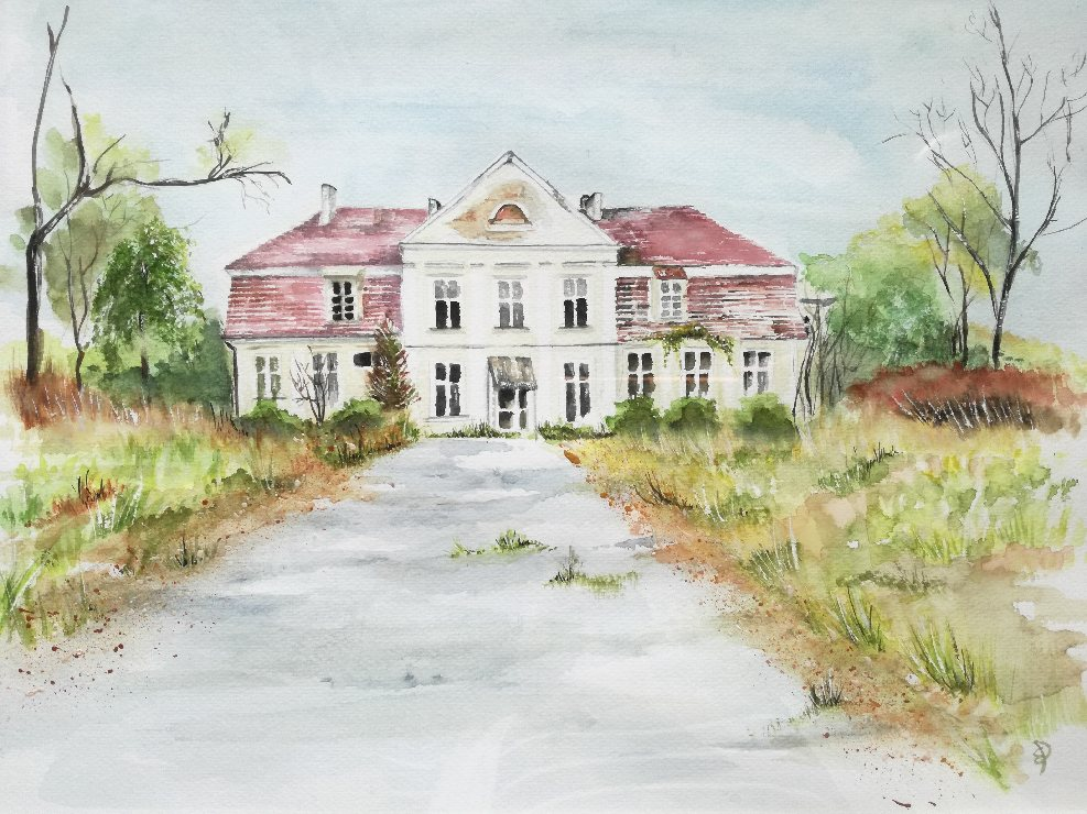 Palace In Rusocin-paintings