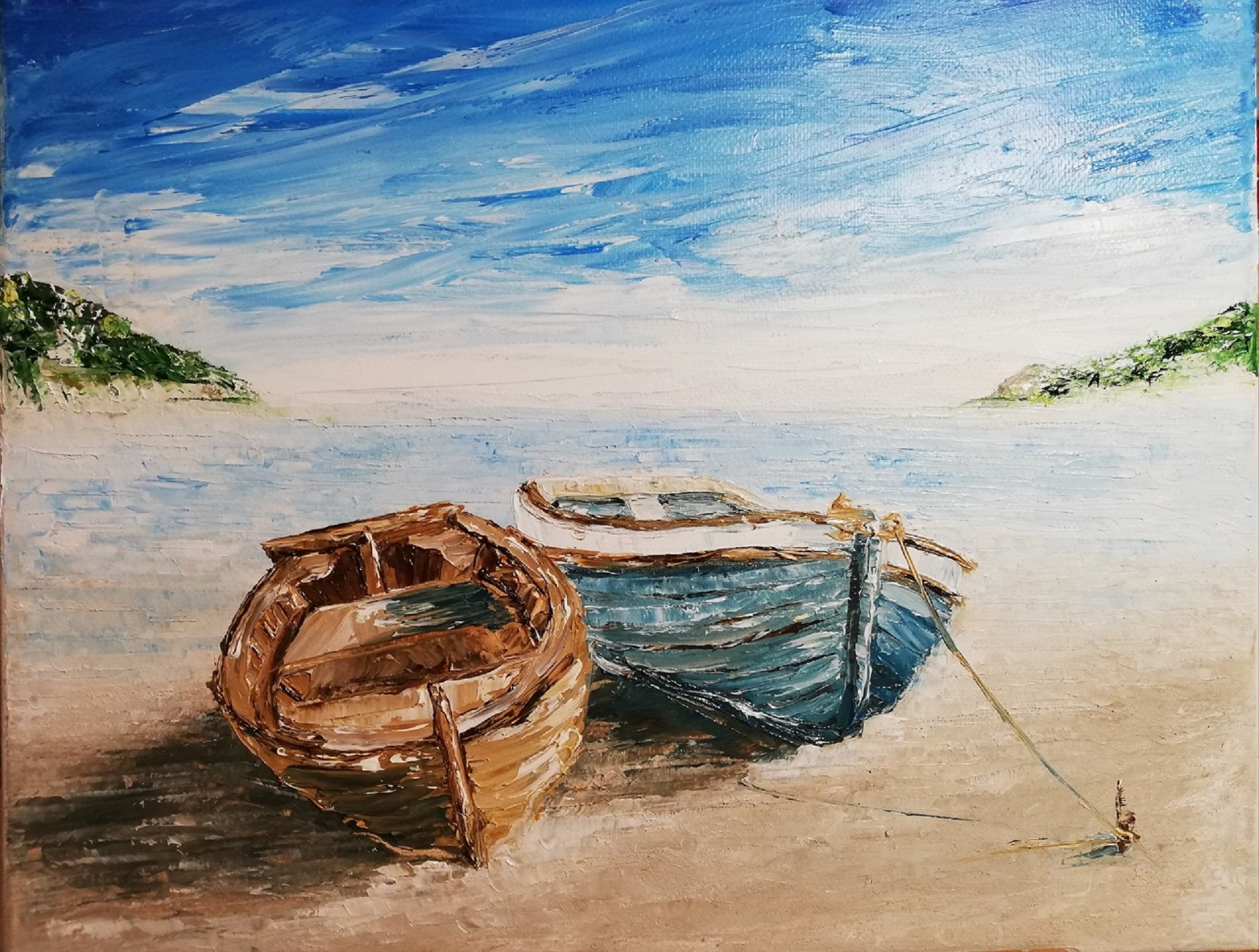 Sea Side-paintings