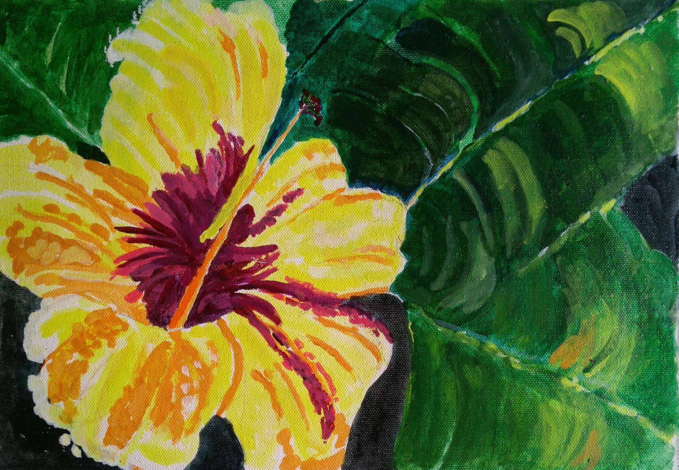 THE YELLOW FLOWER-paintings