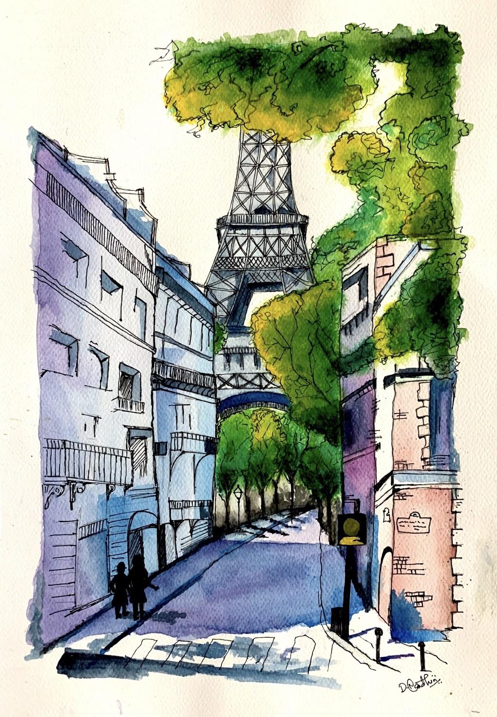 Eiffel Tower Paris-paintings