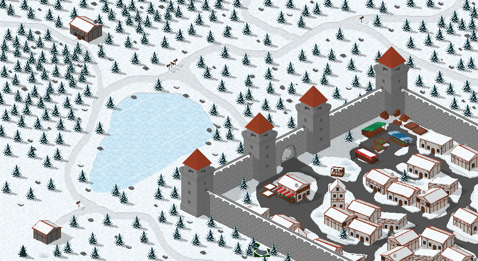 The Great Pixel Art Medieval Town-illustration