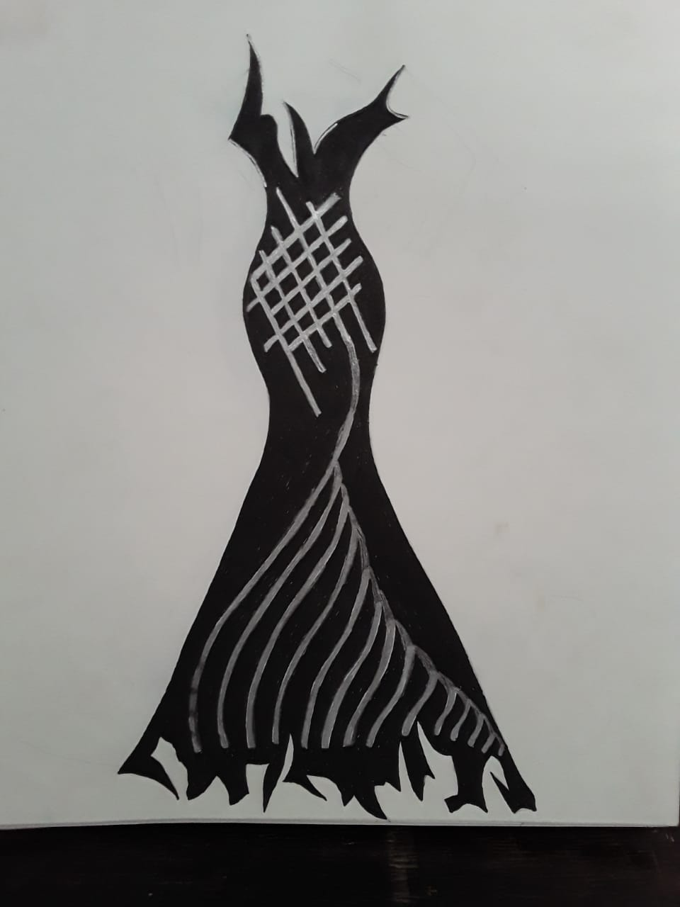 Black Shiney Gown-quilting