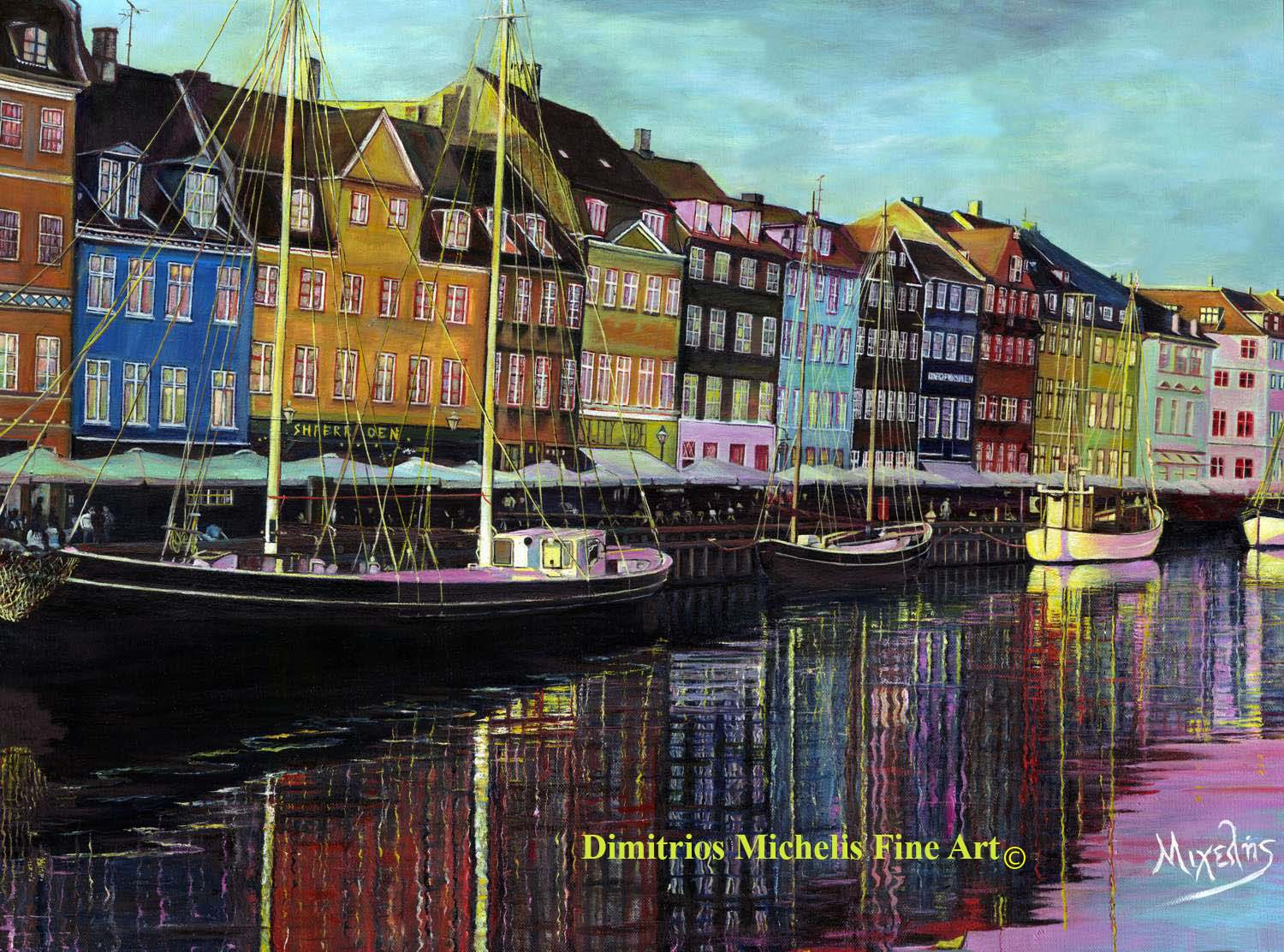 Copenhagen Nyhavn Canal-paintings