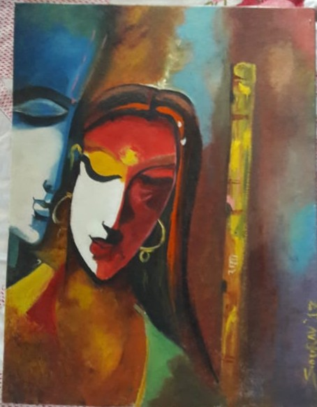 LoveSaga-paintings by Sourav Biswas