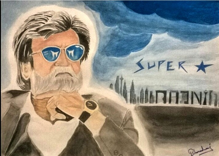 Showflipper Superstar Rajini -paintings