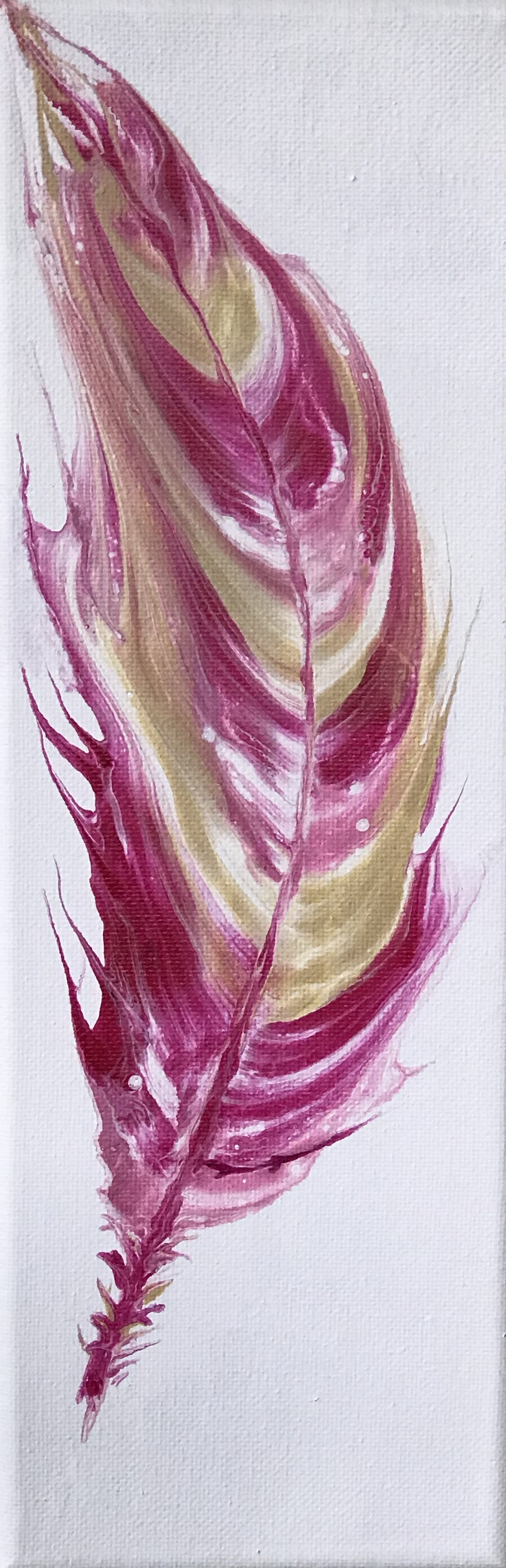 Pretty In Pink Feather-paintings-Showflipper