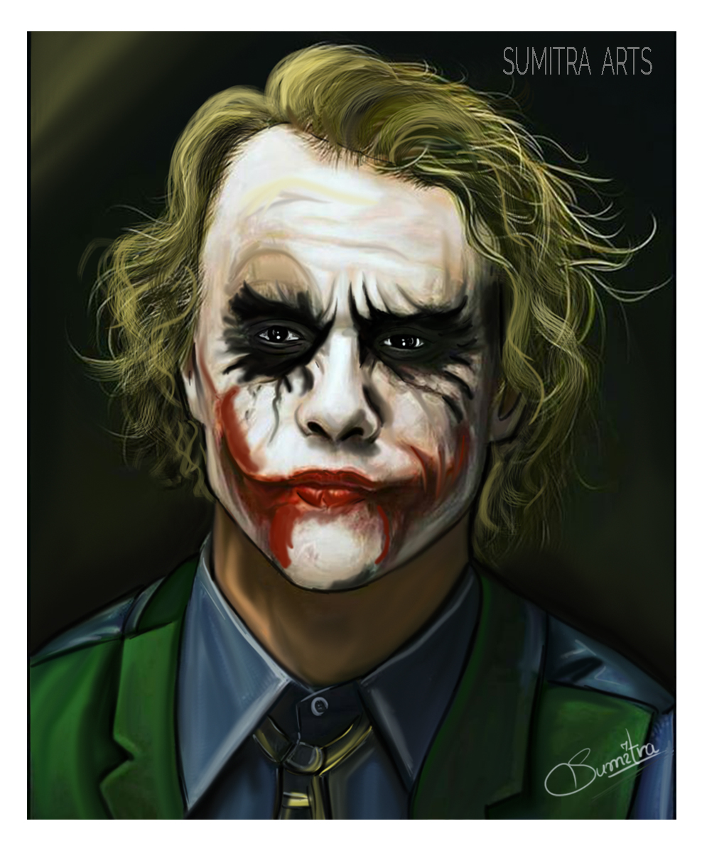 Hedge Ledger Joker-digital sketches Showflipper