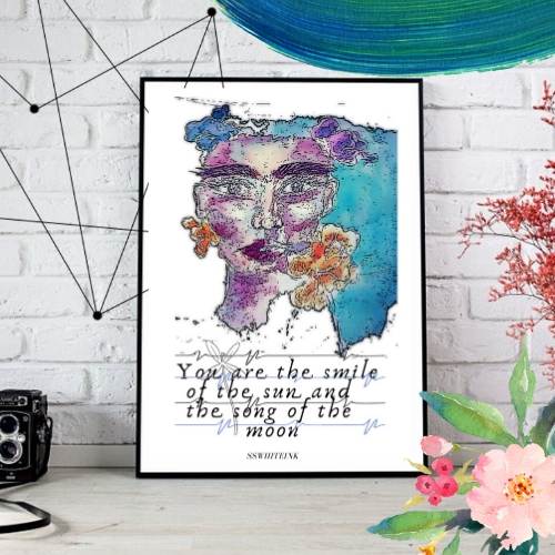 You Are The Light Original Print-digital sketches
