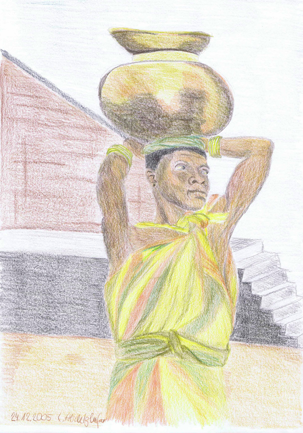 African Woman-drawing Showflipper