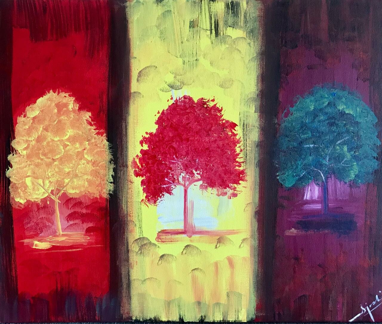Blissful Trees-paintings Showflipper