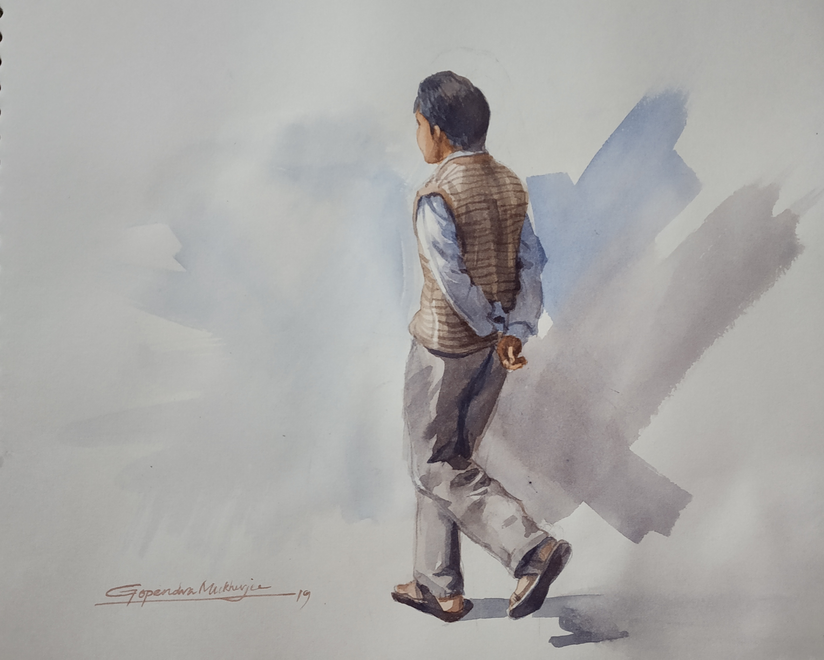 Human-paintings-Watercolor Showflipper