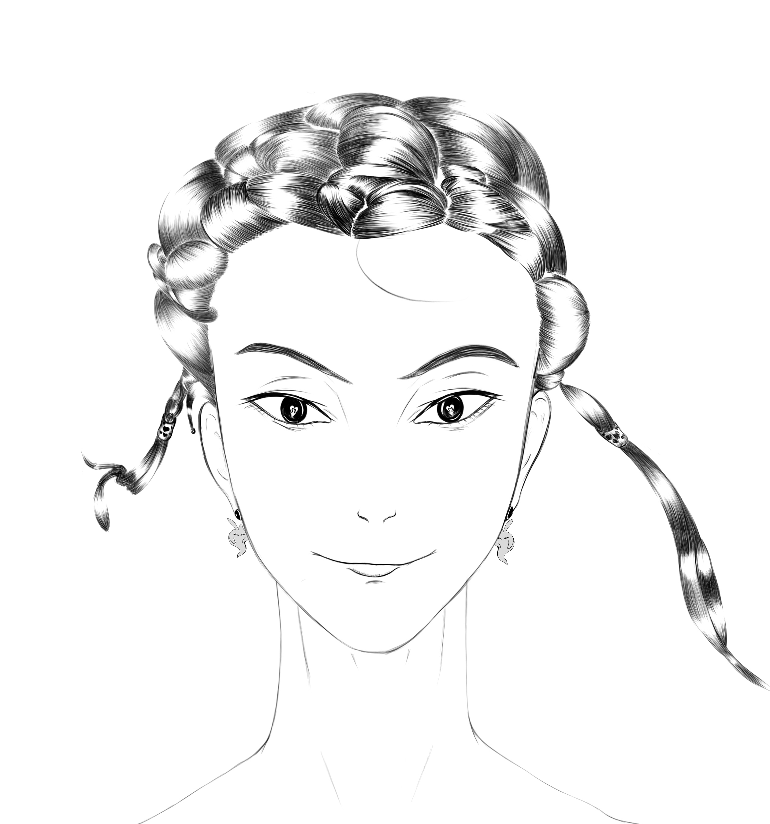 The Hairstylish-digital sketches Showflipper