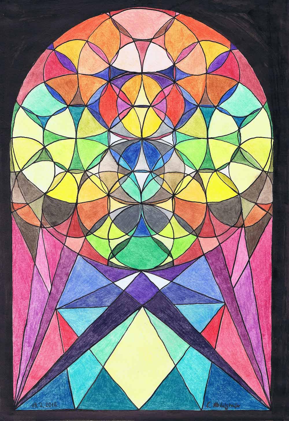 Colorful Church Window-drawing Showflipper