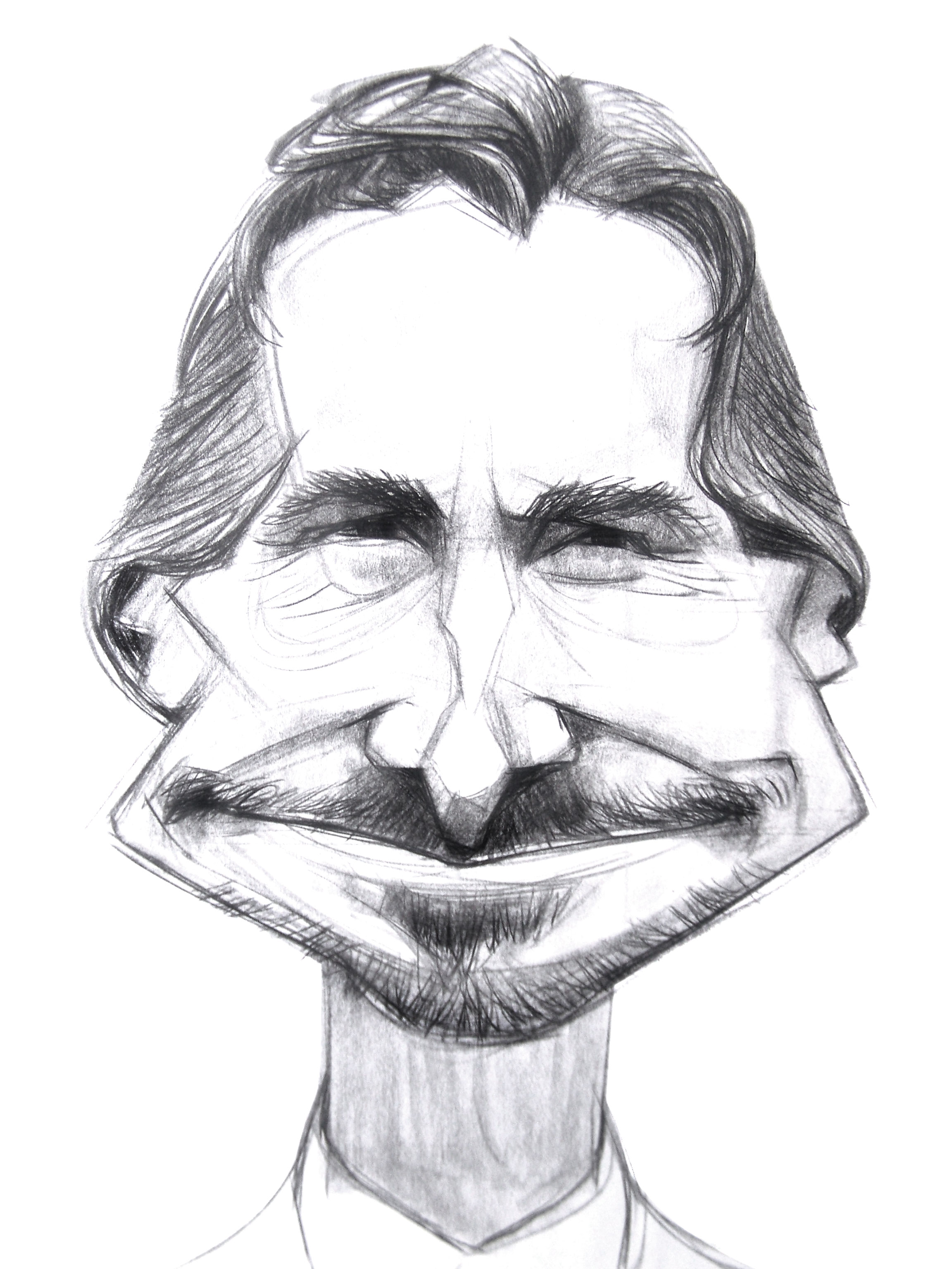 Christian Bale-digital sketches Showflipper