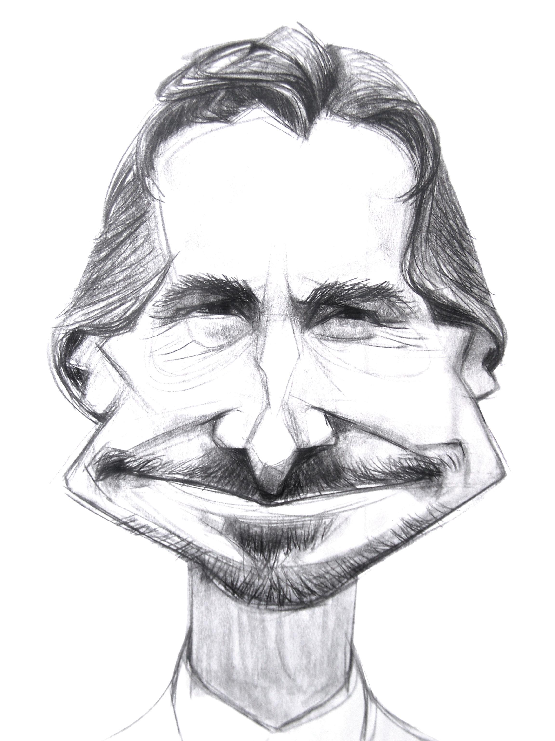Christian Bale-digital sketches Showflipper