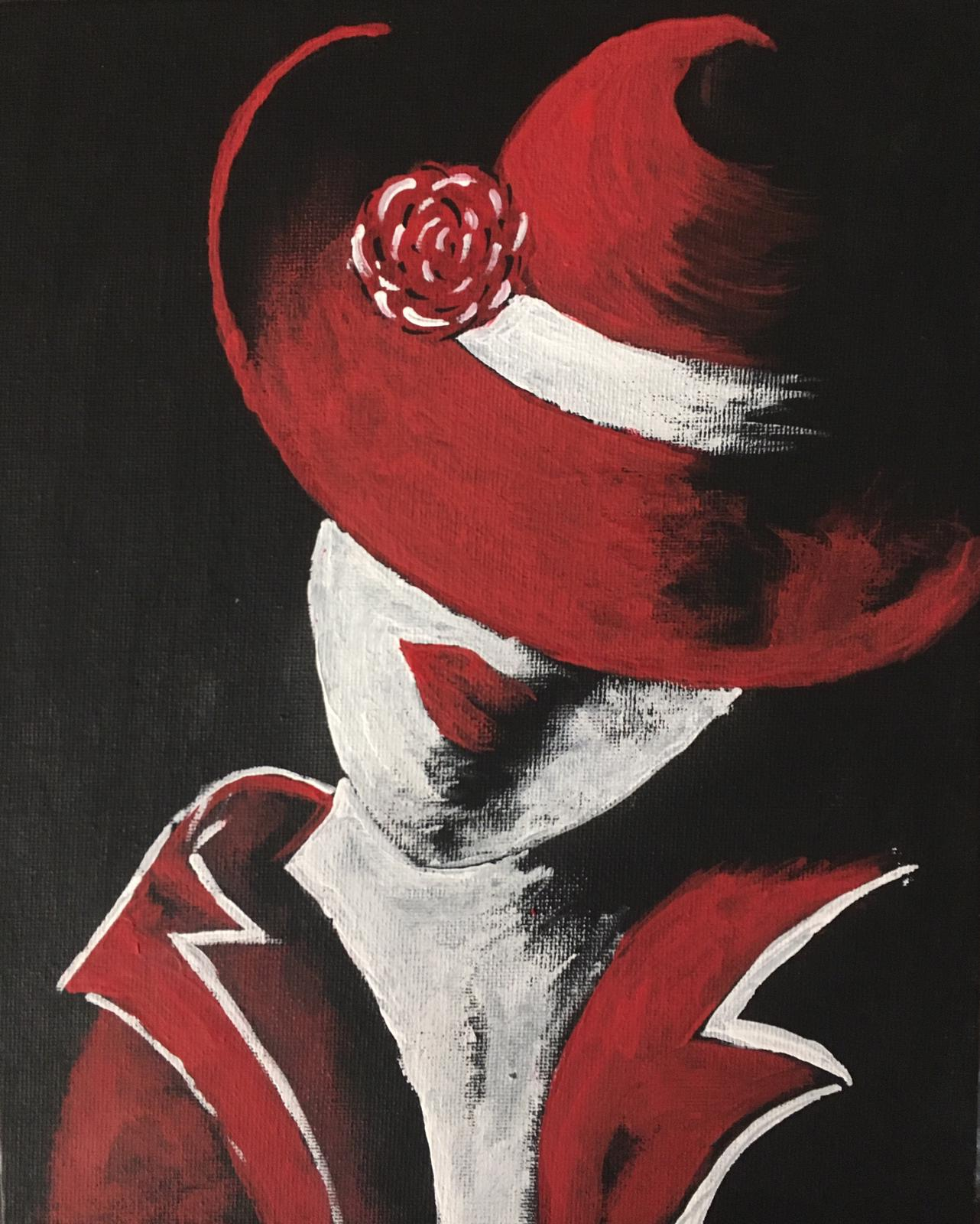 Lady With Red Hat -paintings Showflipper