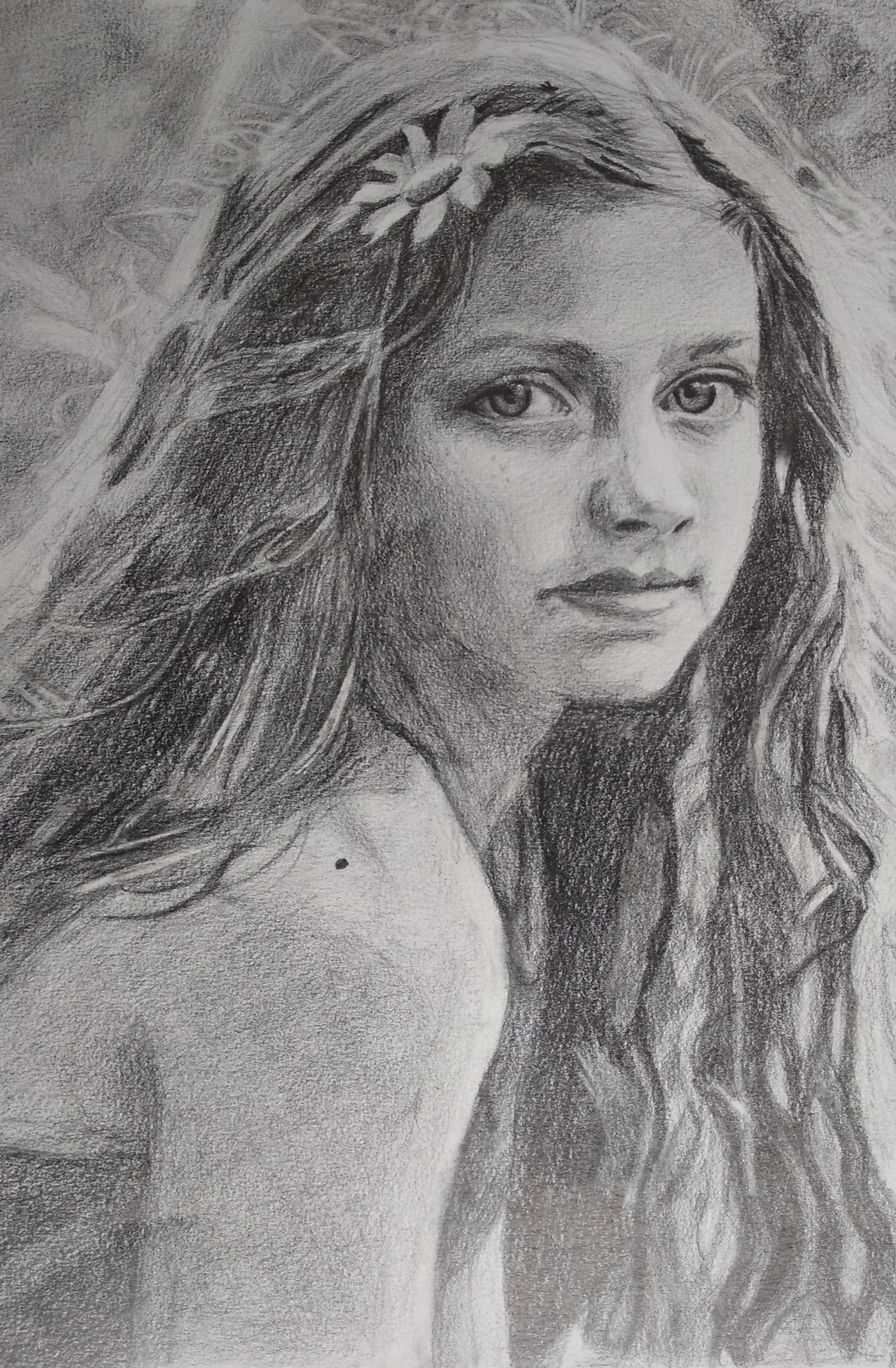 Girl Portrait Drawing-drawing Showflipper