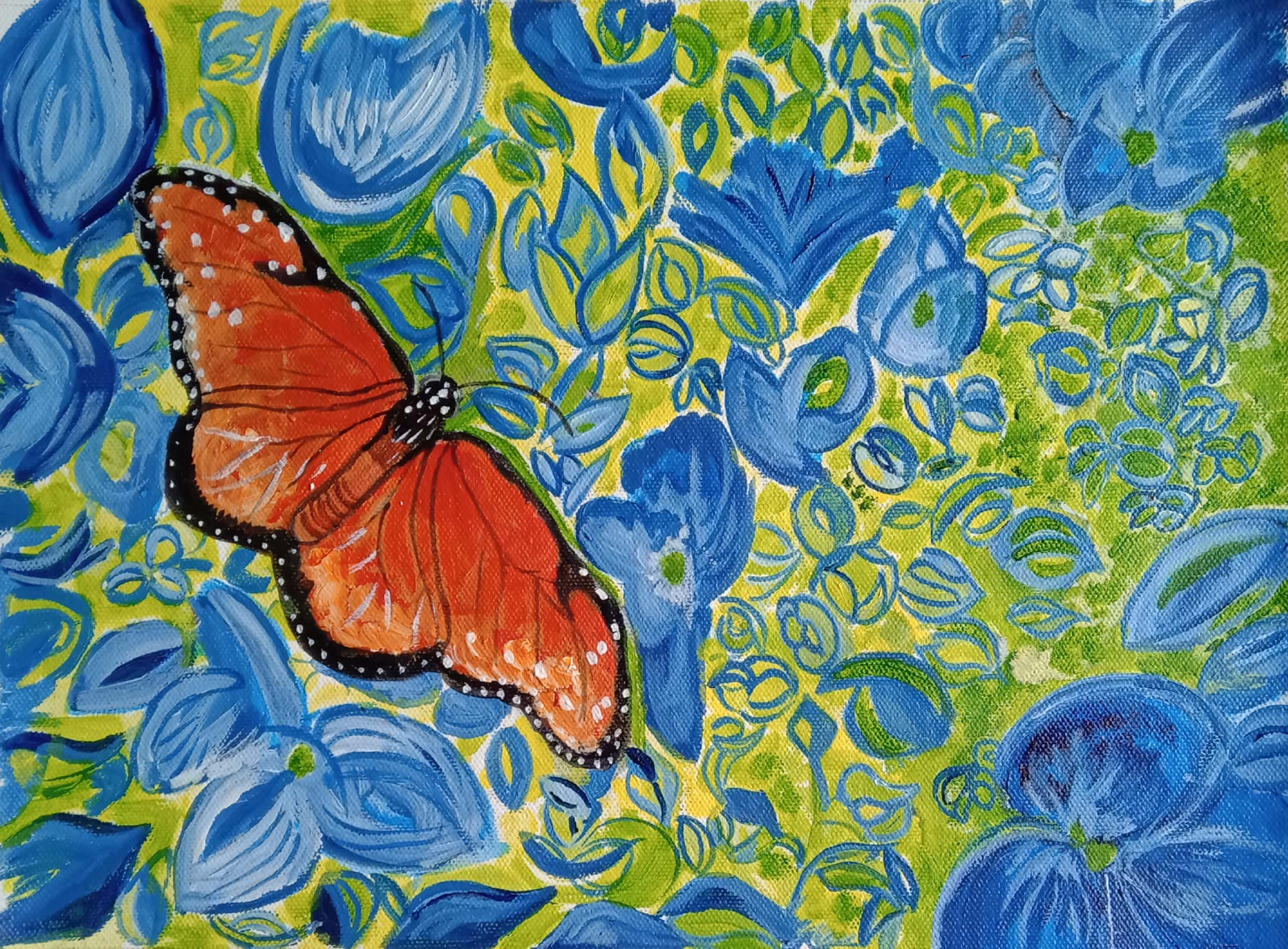 The Butterfly  -paintings Showflipper