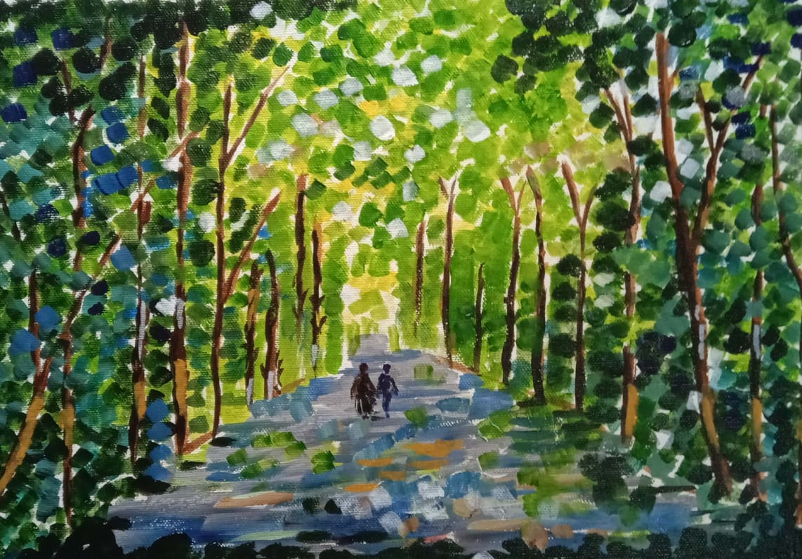 Green Forest-paintings Showflipper