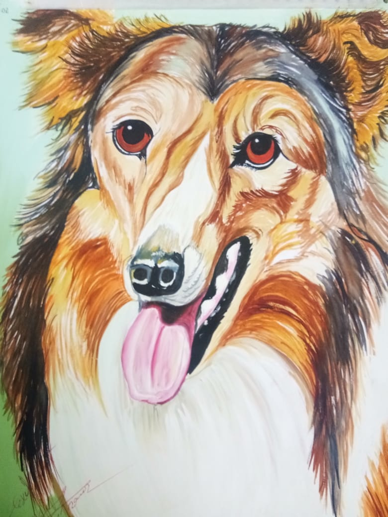 Dog Painintg-paintings Showflipper