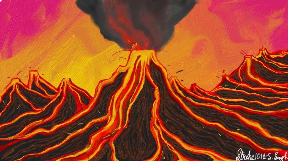 Volcano-illustration Showflipper