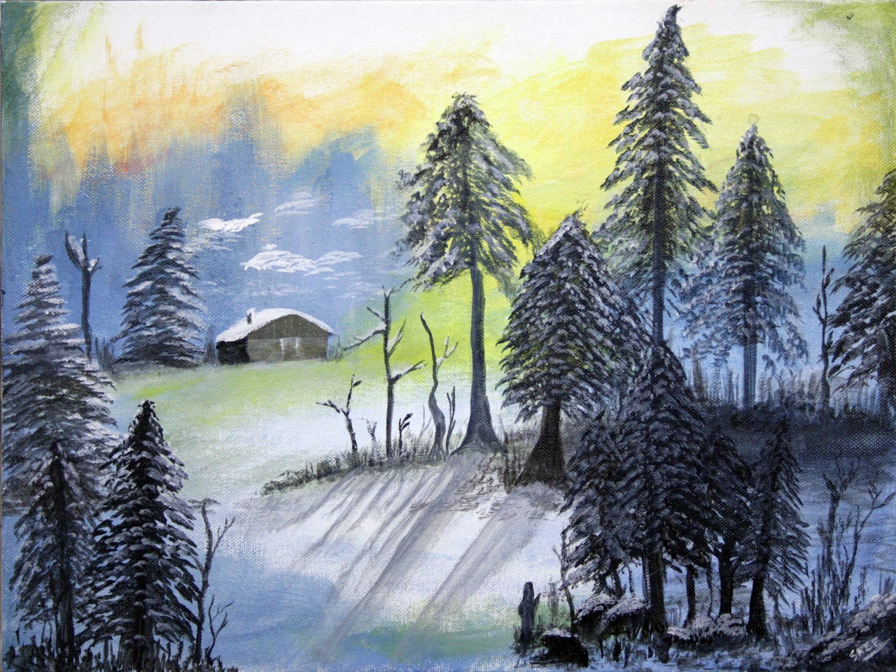 Winter Scenery-paintings Showflipper