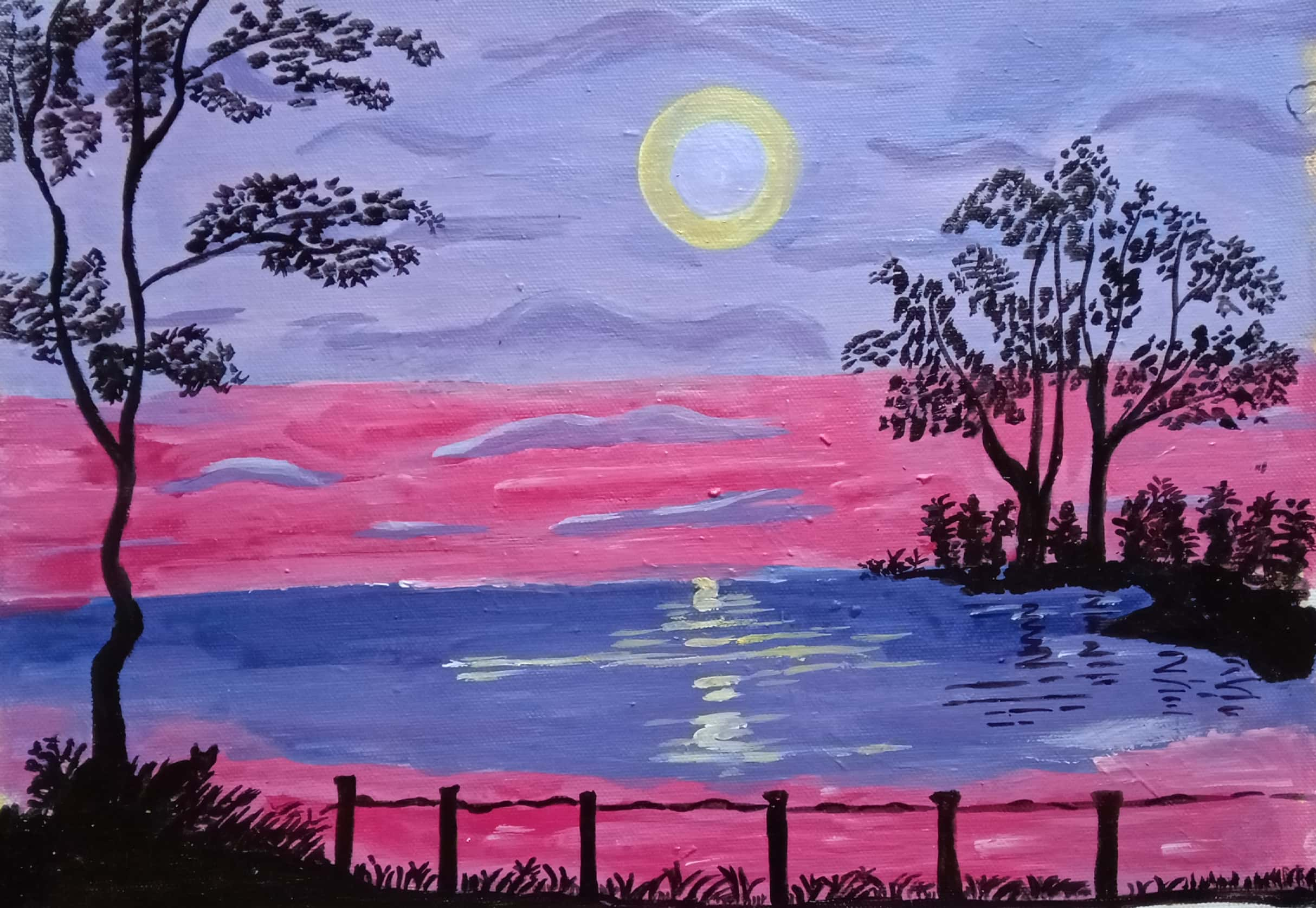 The Trees Over The Sea-paintings Showflipper