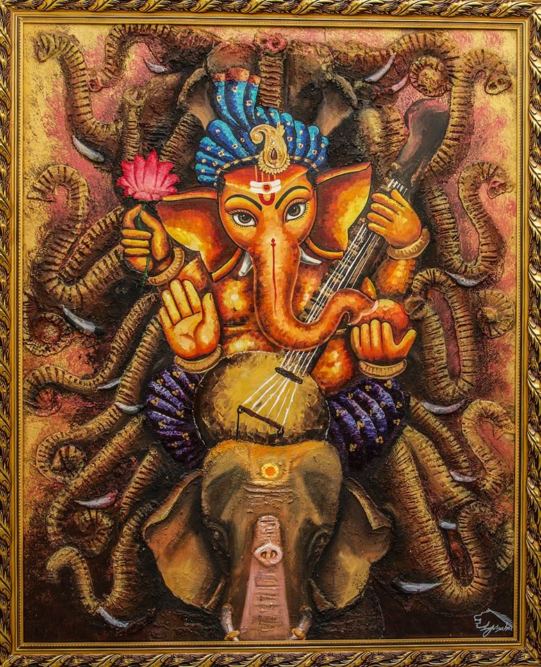 The Ganesha Series -paintings Showflipper