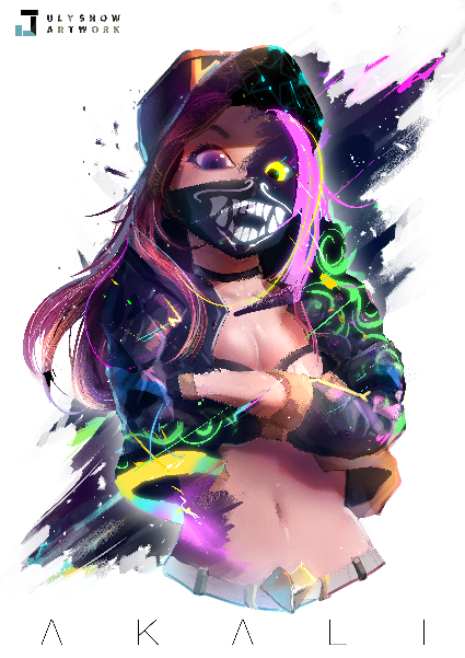 KDA Akali-illustration Showflipper