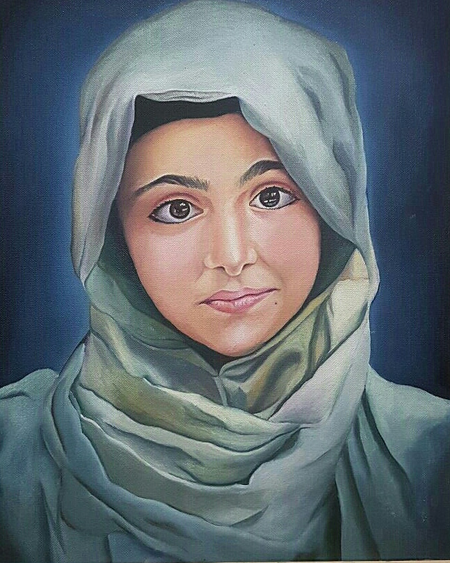 Kashmiri Girl Portrait-paintings Showflipper