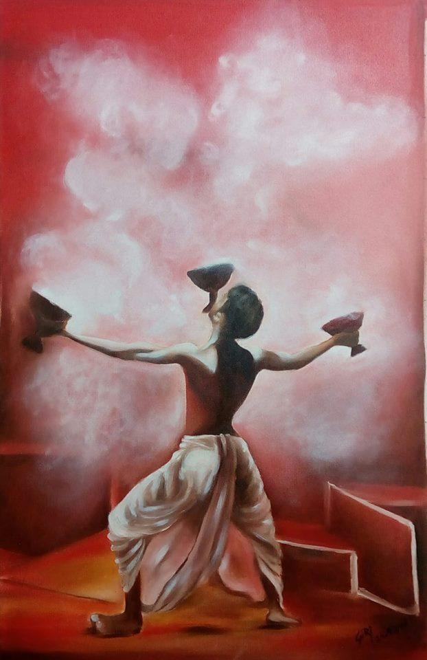 Indain Classical Dance-paintings Showflipper