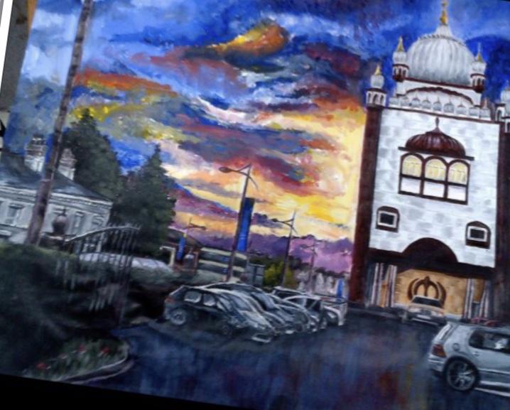 Sunset Gurdwara -paintings Showflipper