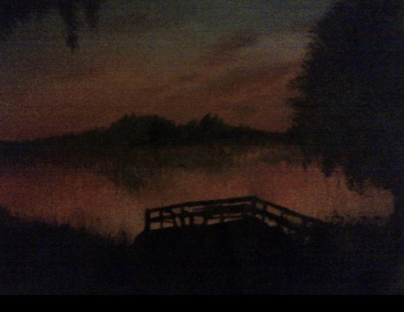Sun Setting Docks -paintings Showflipper