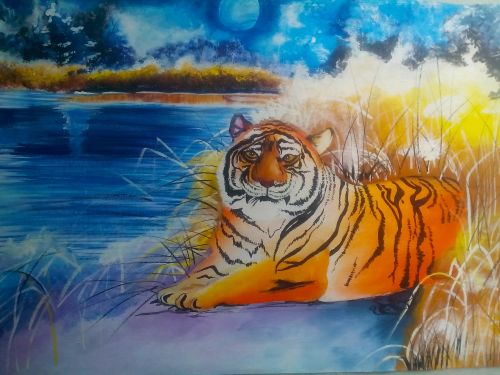 Unbound Feelings Of A Tiger-paintings Showflipper