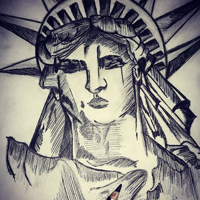 STATUE OF LIBERTY-drawing Showflipper